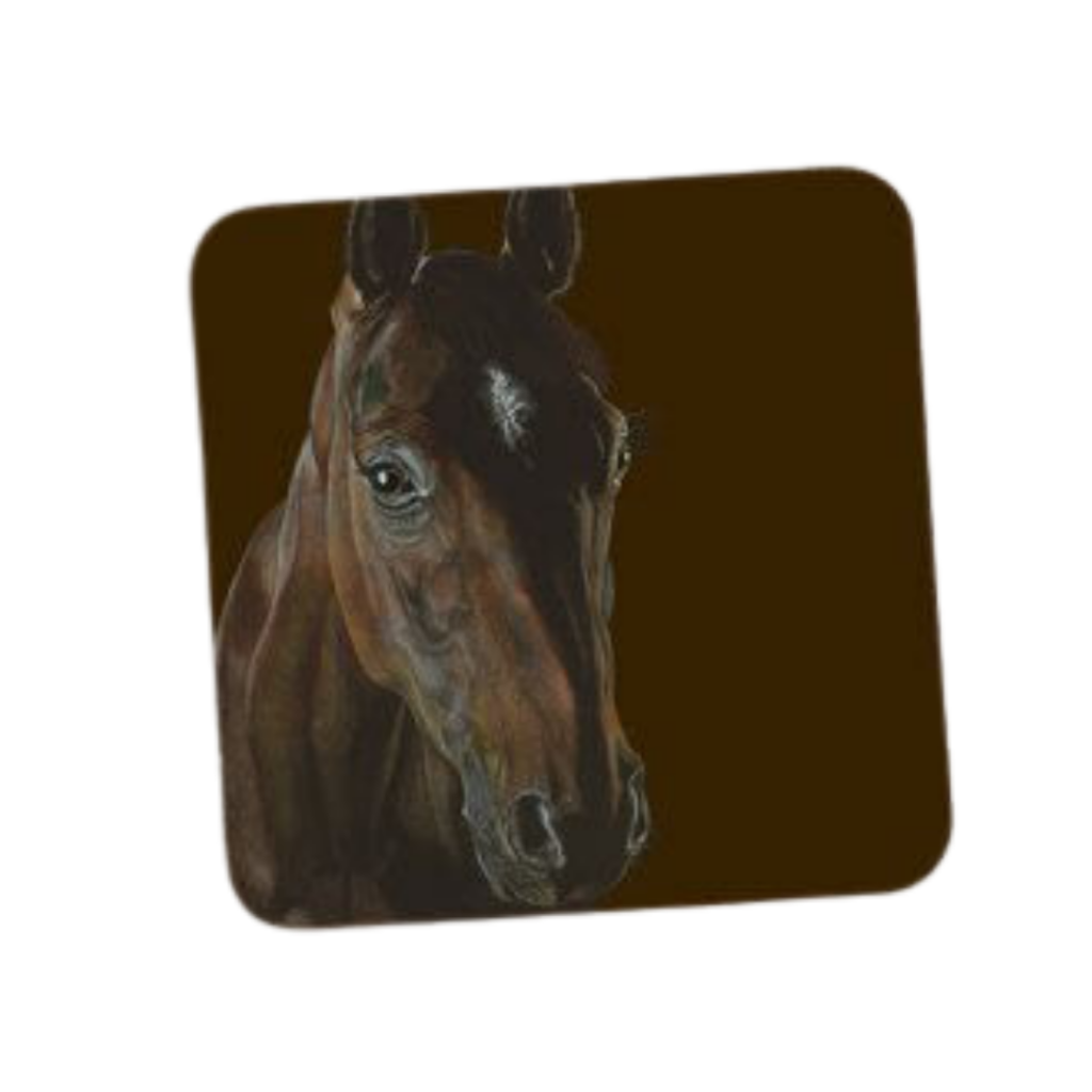 Deckled edge coaster - Chestnut