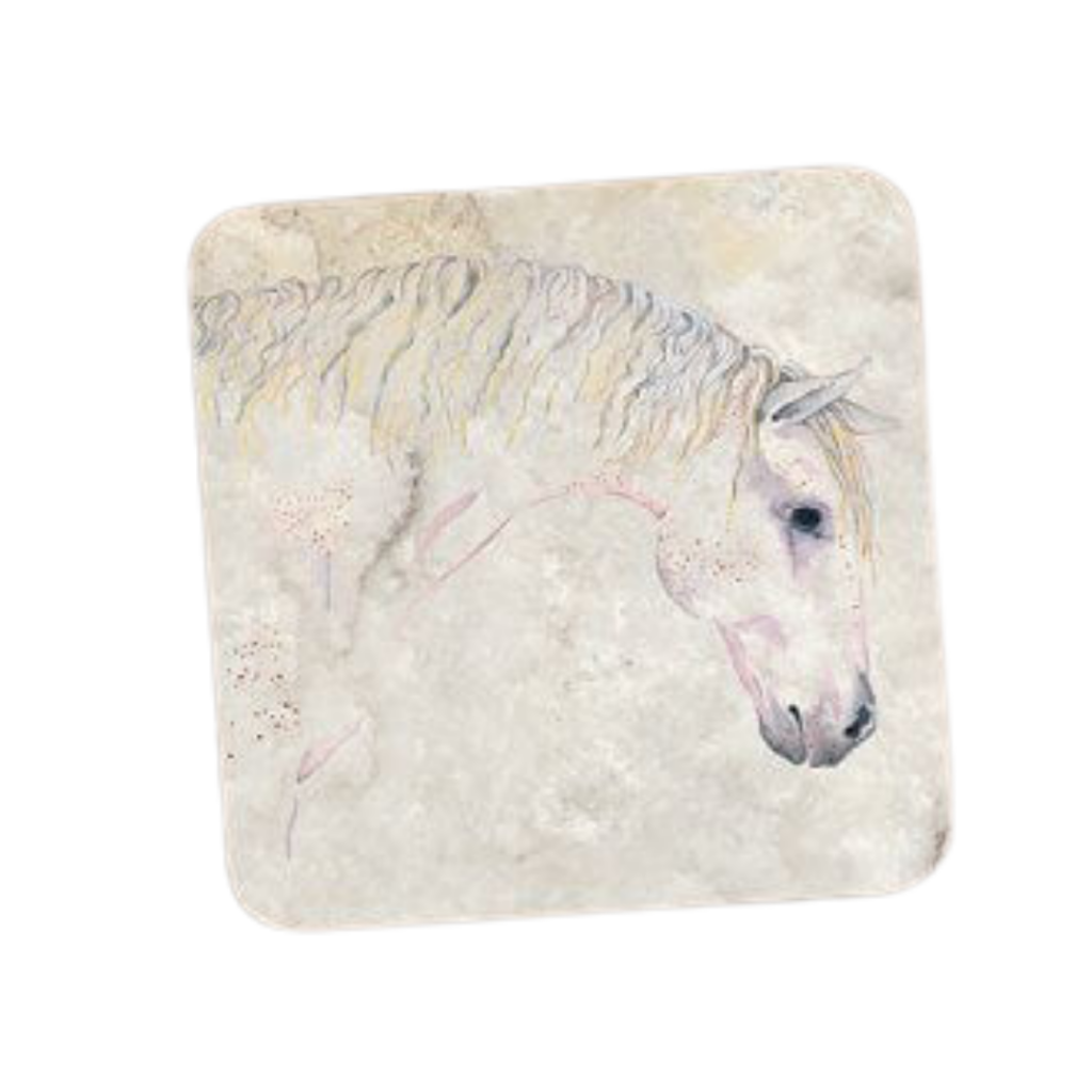 Deckled edge coaster - Grey painted