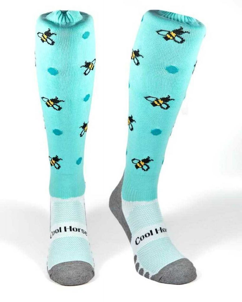 Coolhorse socks - Blue Busy Bees (4-7 UK)
