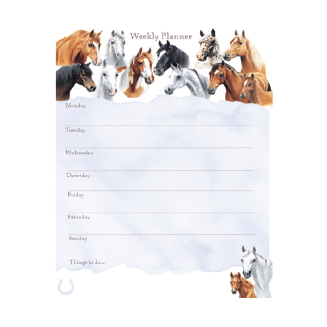 Horses A4 weekly planner