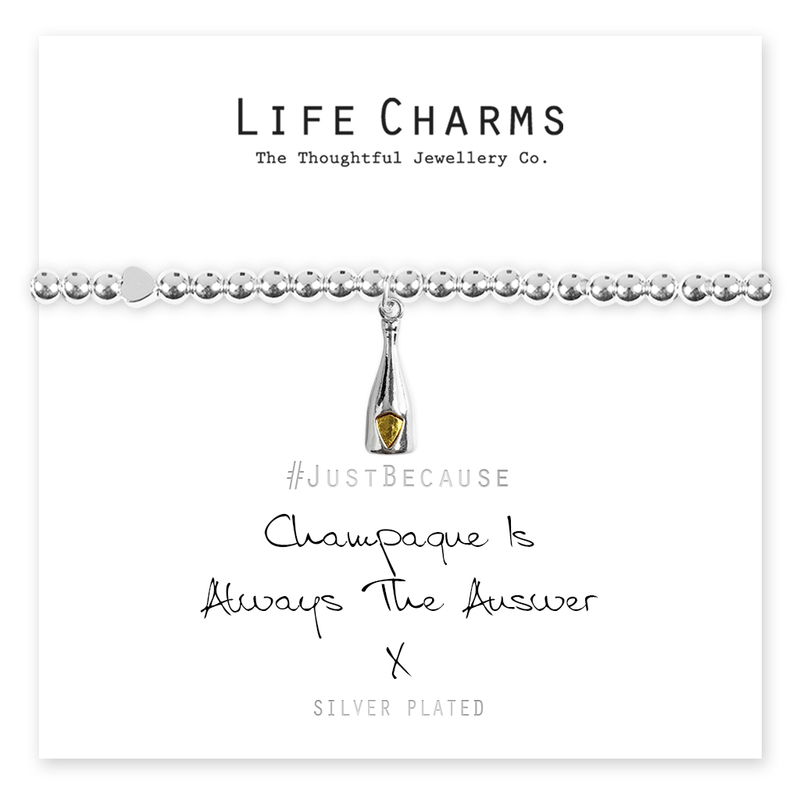 Lifecharms - Champagne is always the answer