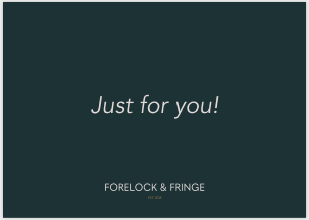 'Just for you' Gift tag
