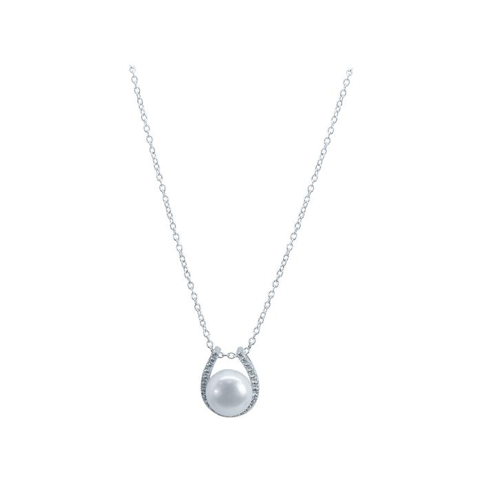 Pegasus Jewellery - Pearl Horseshoe sparkle necklace