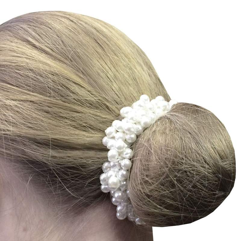 Equetech Pearl beaded scrunchie