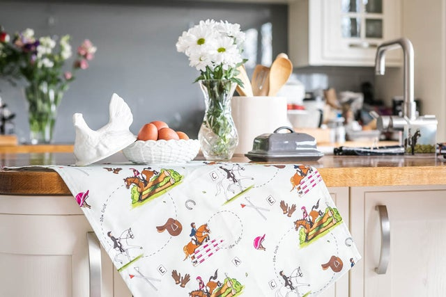 Emily Cole 'Eventing' Tea Towel